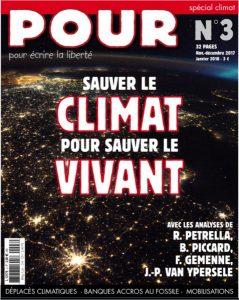 Journal POUR 3 - Sauver le climat pour sauver le vivant - POUR - www.pour.press